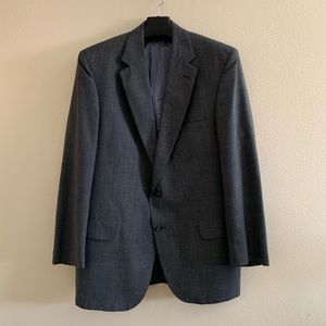 Brooks Brothers 346 Mens Blazer Gray Plaid 46L
